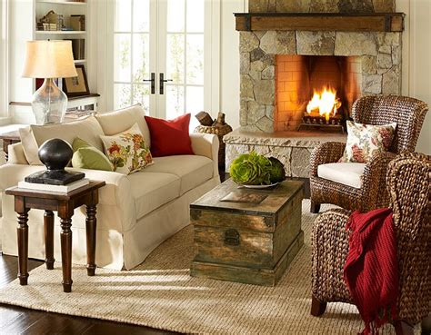 elegant  cozy interior designs  pottery barn