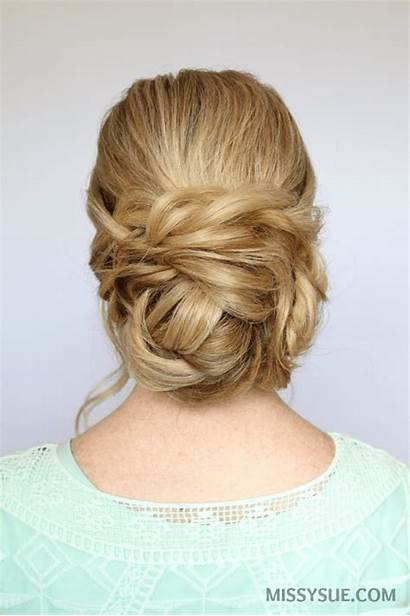Bun Low Updo Braid Hair Hairstyles Tutorial