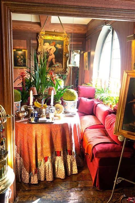 romantic boheminia colorful dining area romantic