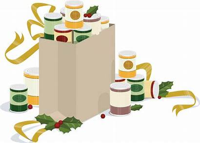 Clipart Holiday Canned Grocery Drive Bag Goods