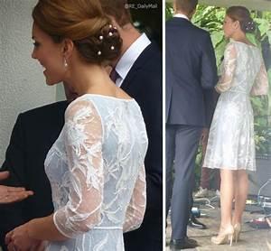 Kate in Temperley dress for Diamond Jubilee tea party in ...
