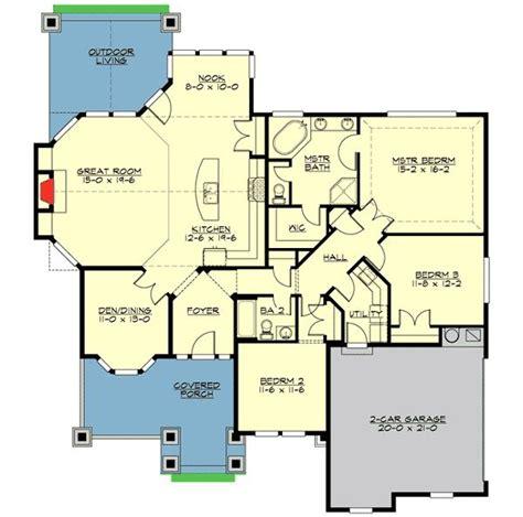 plan jd decorative rambler   beds house plans craftsman  full bath