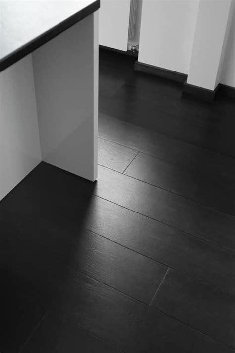 spectacular intensive black engineered oak wood flooring