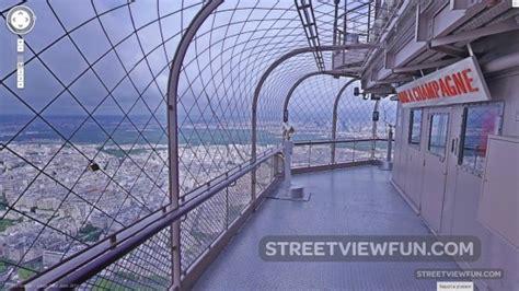 stunning view  eiffel tower   google street view
