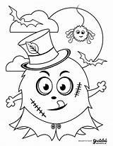 Halloween Coloring Pages Monster Kid Frankenstein sketch template