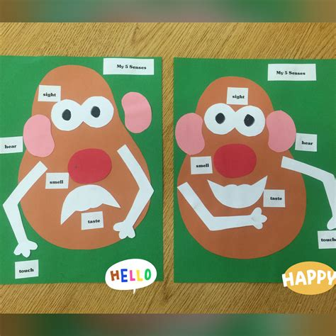 mr potato 5 senses activity preschool or 710 | aabcca79ce823227de92ee3cbf677e12