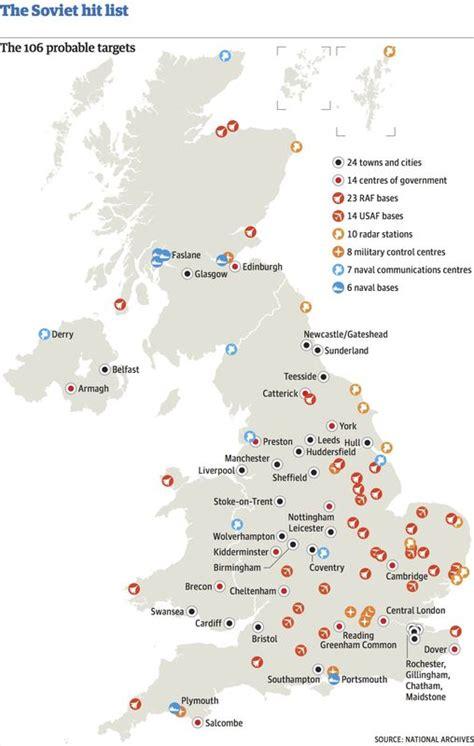 revealed   cold war nuclear targets   uk