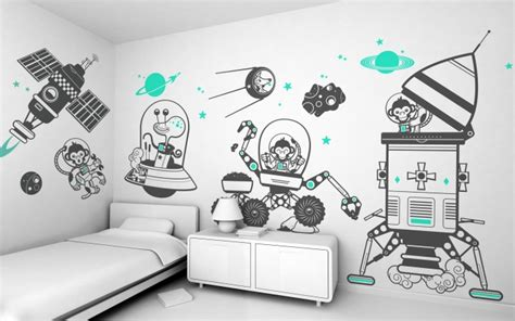 eglue monkey planet wall decals piccolo house