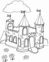 Castle Coloring Pages Castles Sheets Coloringpages1001 Simple Children Draw Kid sketch template