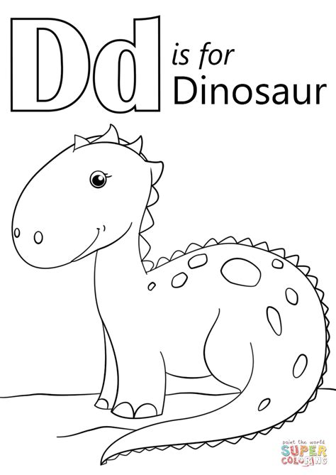 letter    dinosaur coloring page  printable