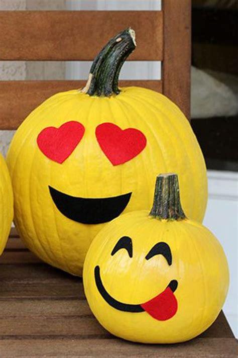 emoji pumpkin carving  painting ideas emoji