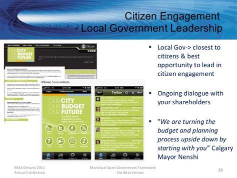 Municipal Open Government Framework