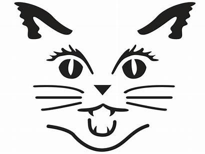 Pumpkin Carving Cat Halloween Stencils Templates Face