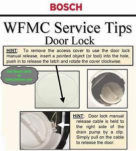 Bosch Washer Manual Door Release