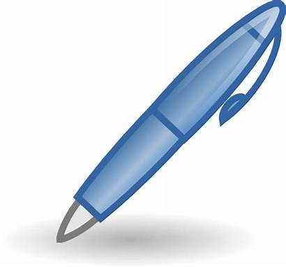 Pen Clip Clipart Writing Vector Cliparts Icon