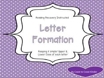 handwriting letter formation  reading recovery
