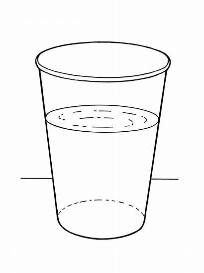 Water Cup Glass Coloring Pages Table Library