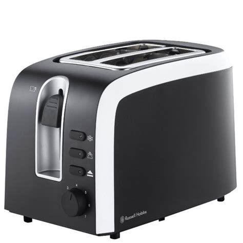 Black And White Toaster hobbs mono 2 slice toaster black and white