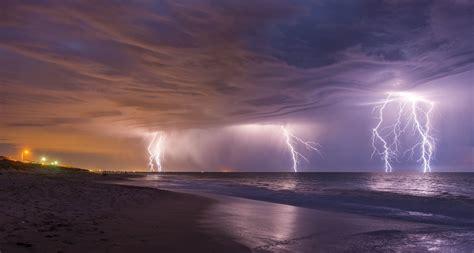 landscape, Lightning, Beach Wallpapers HD / Desktop and ...