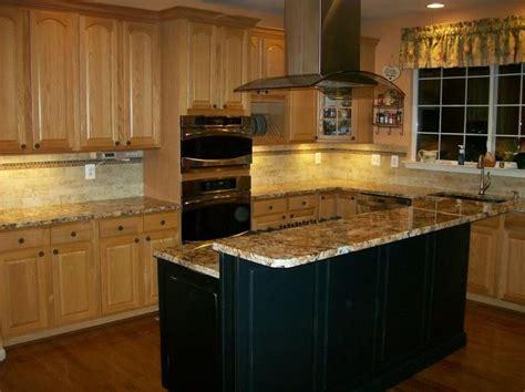 oak and black kitchen cabinets oak kitchen cabinets black island design ideas