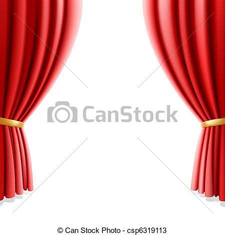 vecteurs de rideau blanc th 233 226 tre rouges vecteur illustration de csp6319113