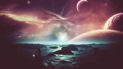 Alien Planet Sky Landscape Wallpapers Nice Ocean
