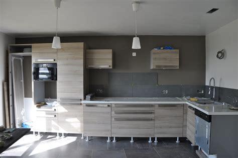 largeur plan travail cuisine ordinaire largeur plan de travail cuisine 2 arriv233e