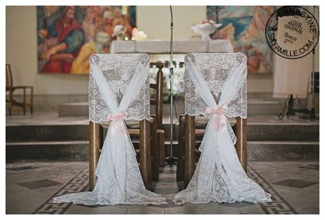 chaise d église dé décoration église décoration chaises des mariés