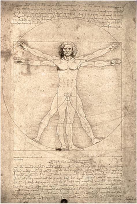 L'homme De Vitruve De Vinci  Lettres En Ligne