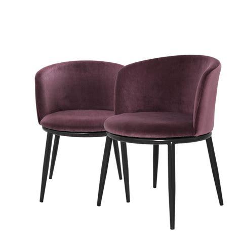 dining chair balmore almond purple velvet set
