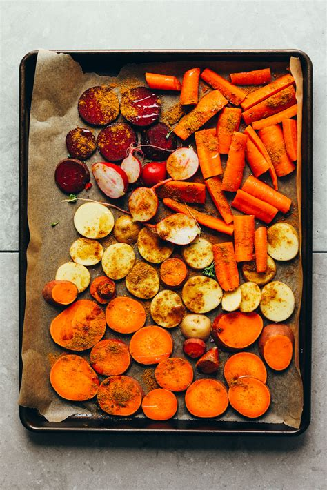 vegetables roast roasted oil vegetable roasting recipe vegan potato step friends carrots without baking ways parchment healthy sheet bowl recipes