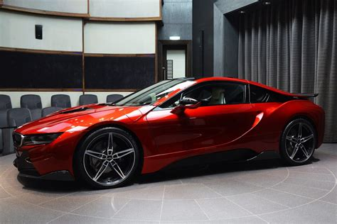 This Custom Lava Red Bmw I8 Is Dripping Hot