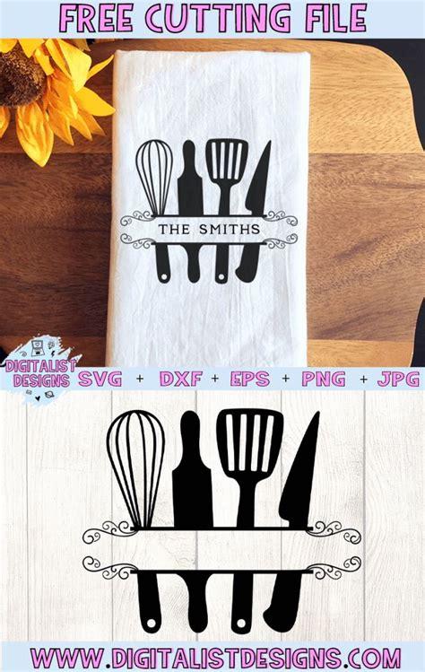 kitchen utensil monogram svg   cricut svg files  cricut monogram monogram svg