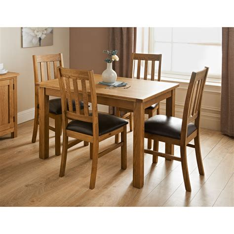 Hampshire Oak Dining Set 7pc  Dining Furniture B&m