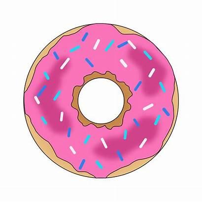 Donut Clipart Pink Clip Sprinkles Doughnut Circle