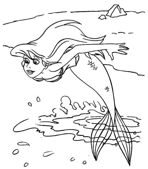 disegni da colorare principessa ariel ariel disegni per bambini da colorare