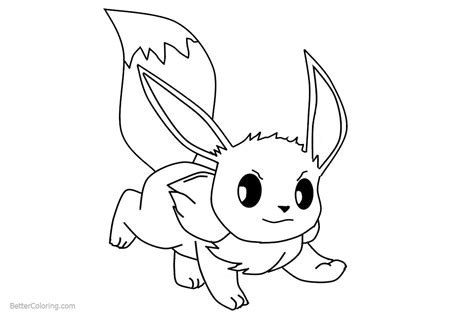 eevee coloring pages fanart  printable coloring pages