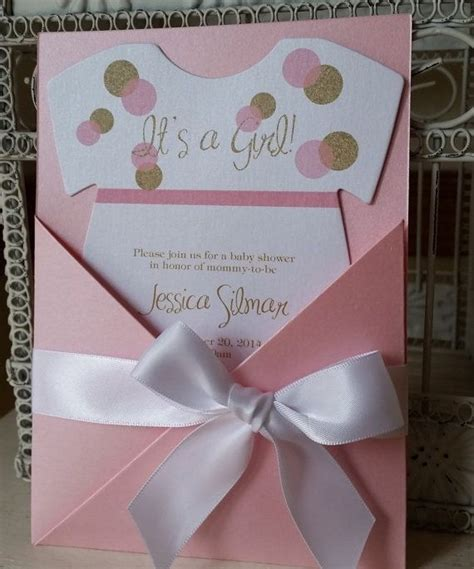 Unique Baby Shower Invitations 2015  It's A Girl