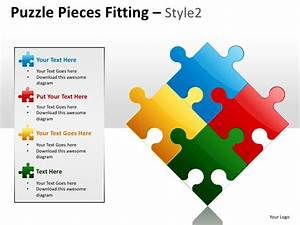 puzzle pieces fitting style 2 powerpoint presentation With puzzle piece powerpoint template free