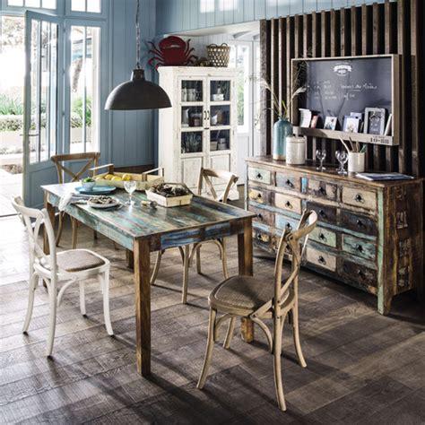 cassettiere maison du monde cassettiera multicolore in legno riciclato calanque
