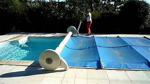 Enrouleur couverture piscine (ouverture) YouTube