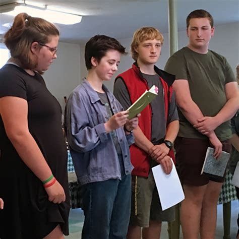 creative writing club students present rotary conval regional high