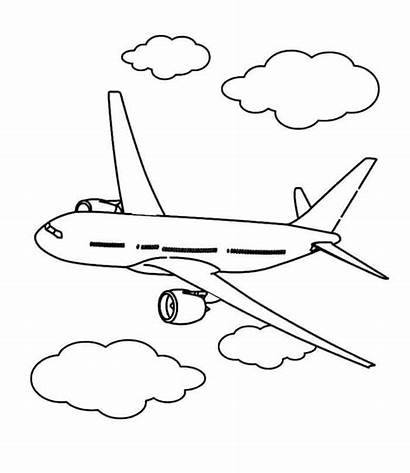 Airplane Commercial Coloring Pagina Kleurende Drawing Plane