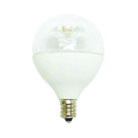 ecosmart 60w equivalent daylight g16 5 e12 dimmable clear