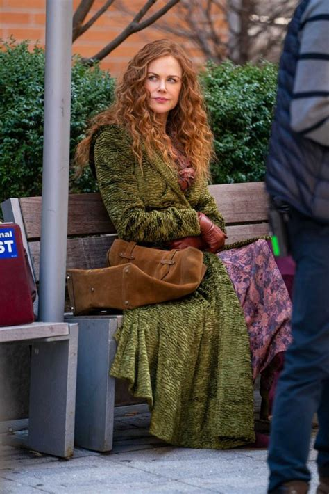 nicole kidman   green coat   set