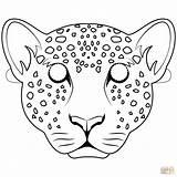 Leopard Mask Coloring Pages Para Colorear Leopardo Dibujo Leopards Printable Mascara Mascaras Dibujos Crafts Masks Jumanji Drawing Animales Supercoloring Preschool sketch template