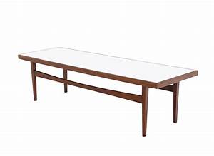 Walnut long rectangular coffee table for sale at 1stdibs for Long rectangle coffee table