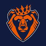 Bear Mascot Vector Crown Icon Angry Clip