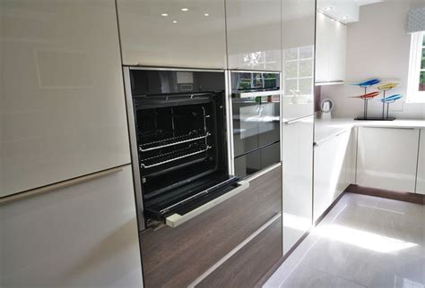 9 Best Contemporary Gloss Kitchen With Contrasting Wood Effect Panelling Images On Pinterest M And S Drawer Pulls Fisher Paykel Dd60dchx7 Built In Double Dishdrawer Dishwasher Black Loft Bed With Desk Drawers Walker 3 Filing Pedestal Hemnes 8 Dresser White 63x37 Deep Chest Sizes Stainless Steel Microwave