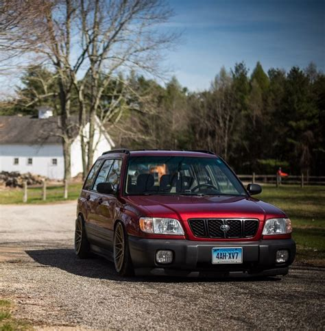 Subaru Sf Forester Wallpaper by Subaru Forester Slammed Stance Modified Auto Wheels